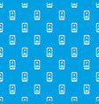 mobile phone with photo pattern seamless blue vector image vector image
