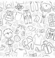 modern casual boys clothes vector image