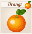 orange fruit cartoon icon vector image vector image