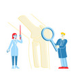 orthopedics healthcare concept doctor orthopedist vector image vector image