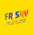playful style font design colorful childish vector image vector image