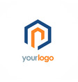 polygon line business logo vector image vector image