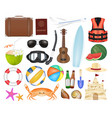 set a real sea travel object vector image