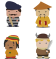 set characters vector image vector image