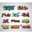 set graffiti vector image vector image