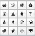 Set of 16 editable kid icons includes symbols