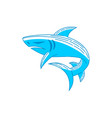 shark logo design concept outline isolated vector image vector image
