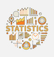 statistics concept vector image vector image
