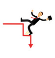 stressed businessman character falling down of vector image
