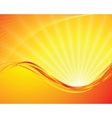 sun on yellow background vector image