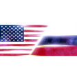 the national flag of usa and russia modern vector image vector image