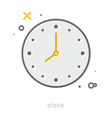 Thin line icons Clock vector image