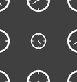 Timer sign icon Stopwatch symbol Seamless pattern vector image vector image