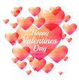 Valentine triangle heart background vector image vector image