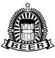 Vintage Beer vector image vector image