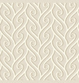 vintage beige pattern with curly lines vector image vector image