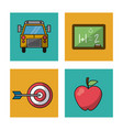 white background with colorful squares of vector image vector image