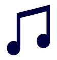isolated musical note vector image