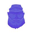 Cartoon Brutal Man Face with Beard vector image
