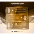Infographic Layout with Spotlights over an high vector image