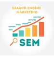 Flat modern about Search Engine vector image