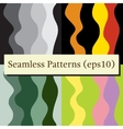 Seamless abstract vertical lines stripes patterns vector image