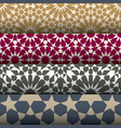 5 geometric seamless patterns vector image vector image