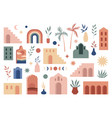 abstract boho architecture buildings geometry vector image