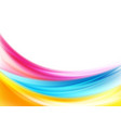 abstract colorful shiny waves background vector image vector image