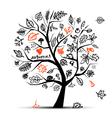 Autumn tree sketch