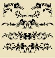 baroque borders vector image