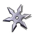 blade star ninja shuriken isolated on white vector image
