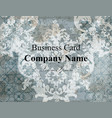 business card template baroque classic damask vector image vector image