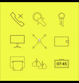 business linear icon set simple outline icons vector image vector image