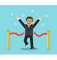 businessman will win vector image vector image