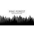cartoon pine forest background vector image vector image