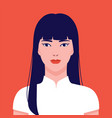 china gogo2 boloportrait a young beautiful vector image