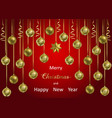 christmas and new year winter holiday web banner vector image vector image