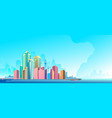 city landscape horizontal day vector image