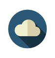 Cloud flat icon Meteorology Weather vector image