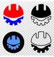 collage of gradiented dotted development helmet vector image