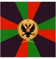 Color flag Siberian Grenadier Regiment vector image vector image