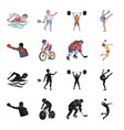 cycling boxing ice hockey volleyballolympic vector image vector image
