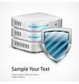 Database protection concept vector image vector image