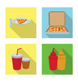 design of pizza and food symbol collection vector image