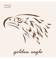 golden eagle vector image vector image
