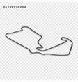 grand prix race track vector image vector image