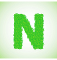 grass letter N vector image