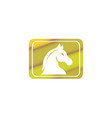 horse head in rectangle shape for chess vector image vector image