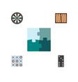 icon flat entertainment set of backgammon darts vector image vector image